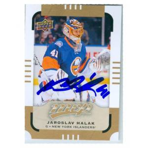 Autograph Warehouse 249003 Jaroslav Halak Autographed Hockey Card - New York Islanders NHL SC Slovakia 2015 Upper Deck MVP - No. 88