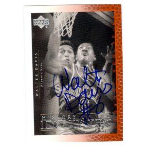 Autograph Warehouse 249009 Walter Davis Autographed Basketball Card - Phoenix Suns NBA 2000 Upper Deck Legends - No. 57 History of the Dunk