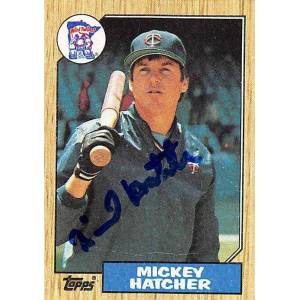Autograph Warehouse 245820 Mickey Hatcher Autographed Baseball Card - Minnesota Twins 1987 Topps - No. 504