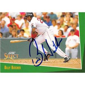 Autograph Warehouse 245991 Billy Hatcher Autographed Baseball Card - Boston Red Sox 1993 Score - No. 225