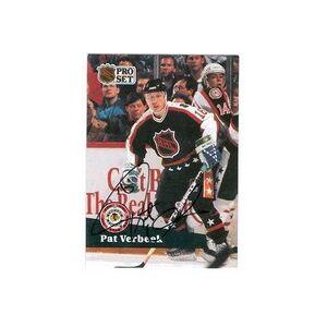 Autograph Warehouse 291341 1991 Pat Verbeek Autographed No.303 Hockey Card - Colorado Rockies, FT