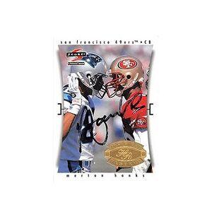 Autograph Warehouse 291648 1997 Score Merton Hanks Autographed No.244 Football Card -San Francisco 49Ers