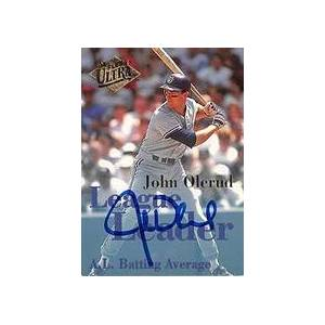 Autograph Warehouse 301830 1994 Fleer Ultra League Leader John Olerud Autographed No.1 Baseball Card - Toronto Blue Jays