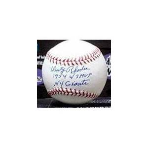 Autograph Warehouse 291700 1954 Dusty Rhodes Autographed Baseball - OMLB New York World Series Hero