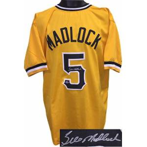 RDB Holdings & Consulting CTBL-017191N Bill Madlock Signed Yellow TB Custom Stitched Baseball Jersey - Madlock Hologram, Extra Large