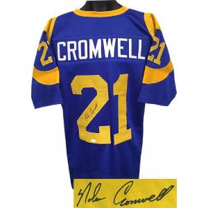RDB Holdings & Consulting CTBL-018246N Nolan Cromwell Signed Blue TB Custom Stitched Pro Style Football Jersey, JSA Hologram - Extra Large