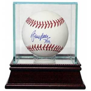 Athlon CTBL-G17156 Bruce Sutter Signed Official Major Baseball 79 Cy with Glass Case - Chicago Cubs