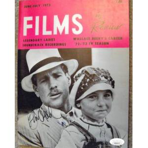 Athlon Sports CTBL-023317 Ryan O Neal Signed 1973 Films in Review Paper Moon Vintage 8 x 10 in. Photo with Tatum O Neal- JSA Hologram No.DD39376