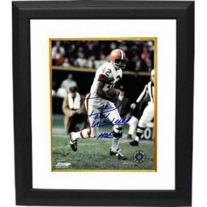 Athlon Sports CTBL-BW24065 Paul Warfield Signed Cleveland Browns Vintage 8 x 10 in. Photo Custom Framing No.42 HOF 83