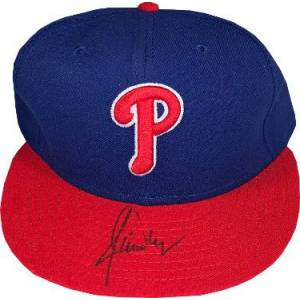Athlon Sports CTBL-026457 Jamie Moyer Signed Philadelphia Phillies New Era Authentic Collection Fitted Cap - JSA Hologram No.HH18394