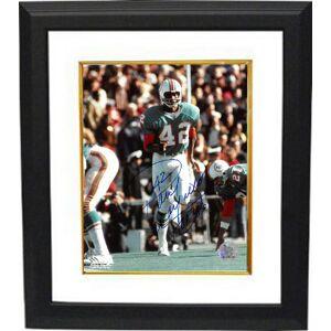 Athlon Sports CTBL-BW28080 Paul Warfield Signed Miami Dolphins 8 x 10 in. Photo Custom Framing No.42 HOF 83