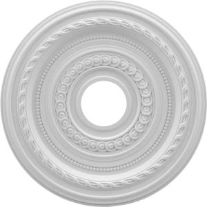 Ekena Millwork CMP16CO 16 x 3.5 x 1 in. Cole Thermoformed PVC Ceiling Medallion - 4.5 in.