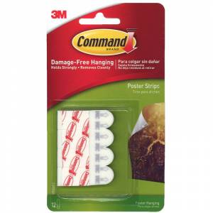 3M MMM17024-6 Command Poster Strips 12 Strips Per Pack - Pack of 6