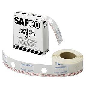 Safco Products Safco 6552 - MasterFile 2 Carrier Strips Polyester