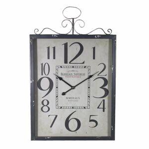 BIG BEN 27.5 x 2.3 x 17.7 in. Monochrome Metal Wall Clock - Black