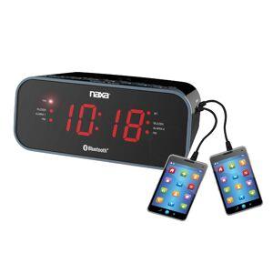 Naxa Electronics Naxa NRC-182 Bluetooth Dual Alarm Clock Radio with 2 USB Charge Ports