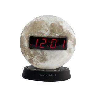 Sonic Alert SBW100MO The Sonic Glow Moonlight Alarm Clock with Recorable Alarm & USB Charging Port