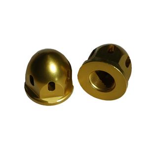 DuraBlue 20-1818g 2 Piece Axle End Nut Alum Bullet - 18 x 1.5 mm Gold Anodize