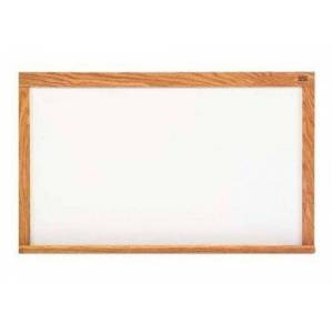 Marsh Industries PR510-7562-6100 60 x 120 Pro-Rite Porcelain Markerboard with Red Oak Wood Trim, White