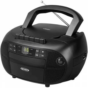 Jensen CD-550 Portable Stereo Cassette Recorder & CD Player with AM & FM Radio