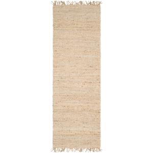 Surya JUITE-312 3 x 12 ft. Jute Runner Rug, Cream