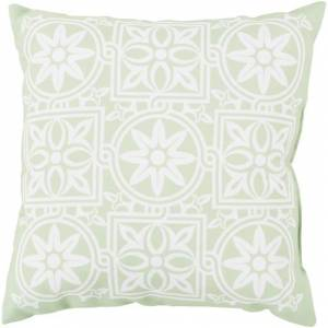 Surya RG061-1818 18 x 18 x 4 in. Rain Contemporary Square Throw Pillow, Mint & Blush