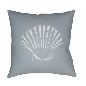 Surya SOL027-1818 18 x 18 x 4 in. Shells II Square Throw Pillow, Gray & Blue