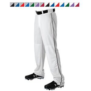 Alleson Athletic AA605WLBCBKMED Adult Alleson Baseball Pant with Braid, Charcoal & Black - Medium