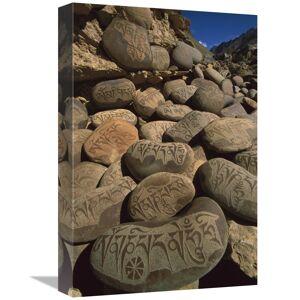 JensenDistributionServices 12 x 18 in. Carved Buddhist Mani Stones, Zangla, Kingdom of Zanskar,India Art Print - Colin Monteath