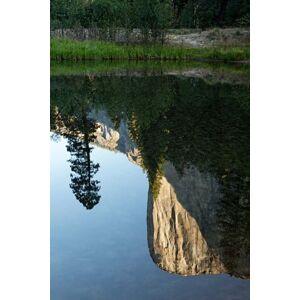 Posterazzi PDDUS05BJY0067 Reflection of El Capitan in Mercede River Yosemite National Park California - Vertical Print by Jaynes Gallery Danita