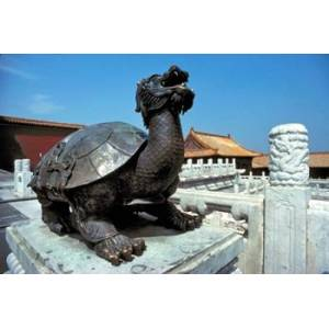 Posterazzi PDDAS07RER0025 China Beijing Forbidden City Turtle Statue Poster Print by Ric Ergenbright Danitadelimont - 34 x 23 in.