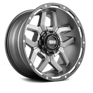 GRID WHEELS 718955A11 18 x 9.0 in. 5 x 150 in. Bolt Pattern 12 Offset 110.3 mm Hub Wheel