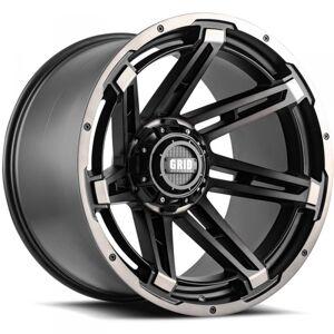 HARD TOP B2952T87 20 in. Dia. x 9 in. GD12 0 mm Offset, 5 x 127 mm Wheel with Matte Black Lip, Dark Tint