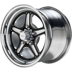 BILLET SPECIALTIES BRS035406116N 15 x 4 in. Street Lite Black Wheel for 1.625 in. Back Spacing