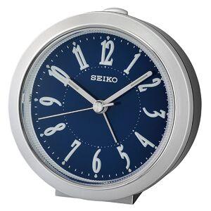 Seiko QHE180S Analog Quartz Bedside Alarm Clock - Silver
