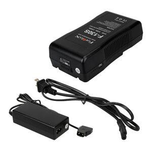 Fotodiox VBatt-Chrgr-F130S Li-Ion V-Mount Battery & Charger Kit for Pro, FlapJack & Factor Series LED Light - 3.2 lbs