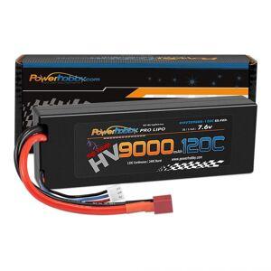 Power Hobby PHB2S9000120CDNS 2S 7.6V HV Plus Graphene 9000mAh 120C LiPo Battery with Deans