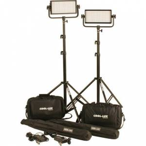 Cool-Lux CL2-2000DSV CL1000 V-mount DayLight LED Spot Light Kit