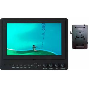 Delvcam Monitor Systems DELV-SDI-7-VM Advanced Function 7 in. 3G-SDI Camera-Top LED Monitor & V-Mount Battery Plate