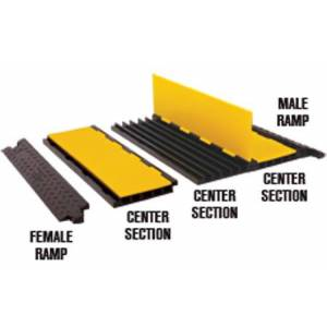 Checkers Safety Products CHK-YJ5125CTR-YB Jacket 5-Channel AMS Center Section - Yellow & Black