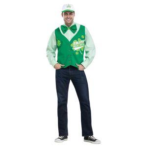 Fun-World Funworld 249023 St. Patricks Day All Star Deluxe Vest Hat & Tie Set - One Size