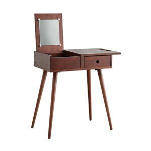 Benjara BM231818 45 x 15.75 x 29.5 in. Mid Century Style Wooden Vanity Set with Lift Top Mirror, Brown
