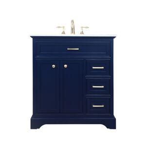 Elegant Decor VF15032BL 32 in. Single Bathroom Vanity, Blue