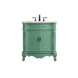 Elegant Furniture & Lighting Elegant Lighting VF10132VM 32 in. Single Bathroom Vanity, Vintage Mint