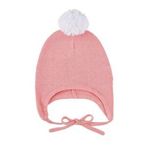 Christian Brands F2990 Knit Bonnet, Pink & White - 6-12 Months