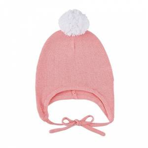 Christian Brands F2990 Knit Bonnet, Pink & White - 6-12 Months