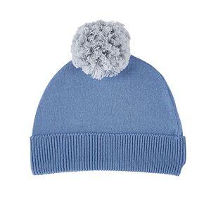 Christian Brands F2991 Knit Hat, Blue & Grey - 6-12 Months