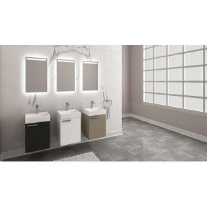Casa Mare Jangala40GB-16 16 in. Mini Modern Design Bathroom Vanity with Ceramic Sink & Mirror - Glossy Black