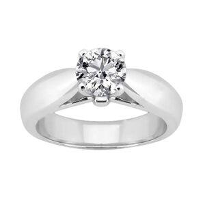 Harry Chad Enterprises HC12530-6 2.51 CT 14K 4 Prong Diamond Solitaire Ring