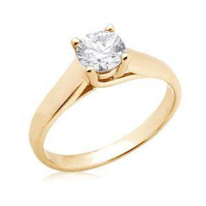 Harry Chad Enterprises HC12534-6 2.51 CT 14K F VS1 Yellow Gold Diamond Solitaire Ring